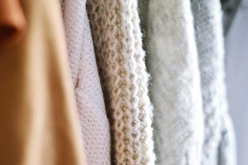 printed rib knit