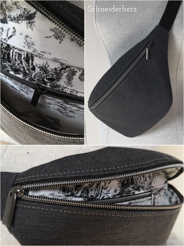Blick auf die Innentasche mit Reißverschluss