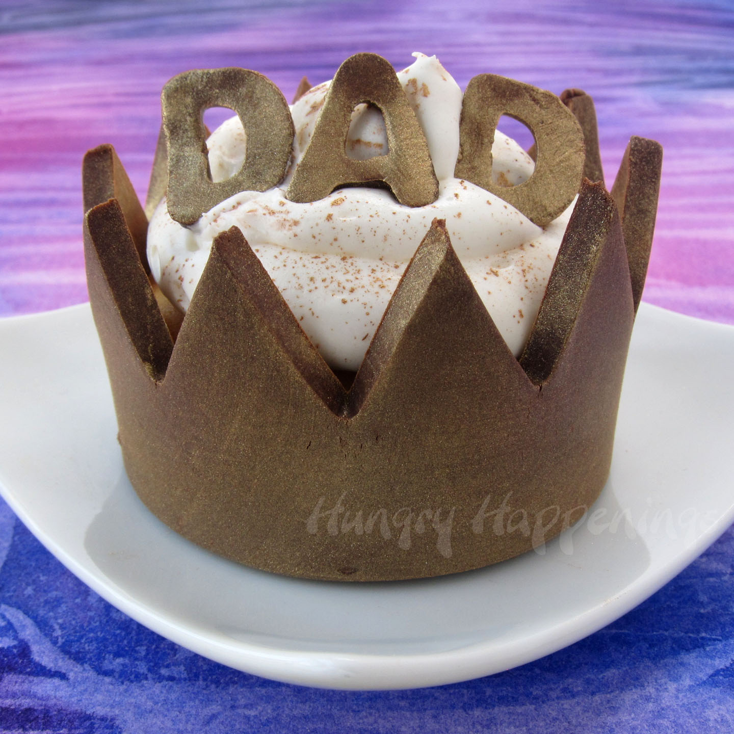 Chocolate Cupcake Wrappers Crowns For Father S Day