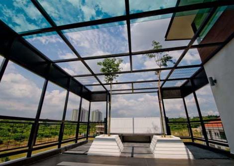 rooftop rumah minimalis