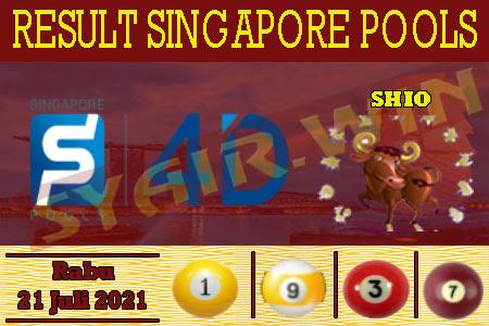 Syair Win Singapore Rabu 21 Juli 2021