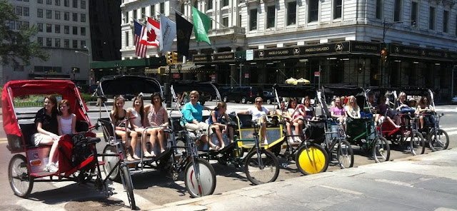 Group Tour by NYC Pedicab Tours Eco-Transport