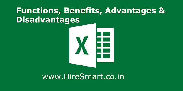 FUNCTIONS, BENEFITS AND USES OF MICROSOFT EXCEL