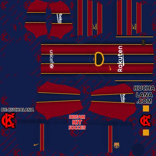 F.C. Barcelona Kits 2021 - Kit Barcelona Dream league soccer 2021