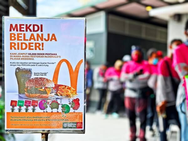 #LekLuMcDBelanja: McDonald's Malaysia Belanja 65,000 Penghantar Makanan