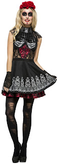 Fever Day of the Dead Women's Costume for Halloween