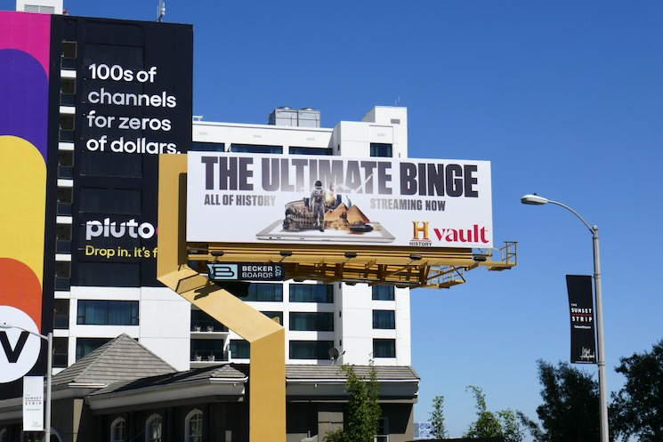 Binge History Vault billboard