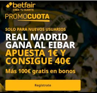 betfair promocuota Real Madrid gana Eibar 20 diciembre 2020