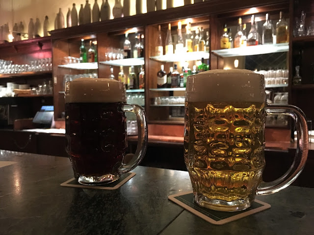 two pints of beer in Berlin beerhall