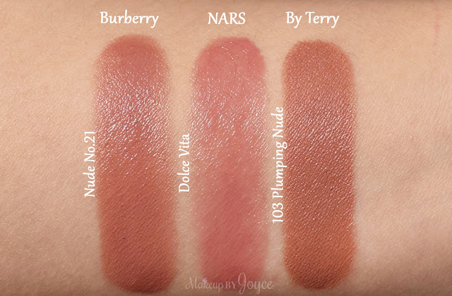 Nars Dolce Vita Lipstick Swatches Burberry Kisses Nude No.21