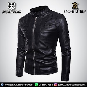 Jual Jaket Kulit Asli Garut Pria Domba Original Brida Leather B42   WA 08813430588