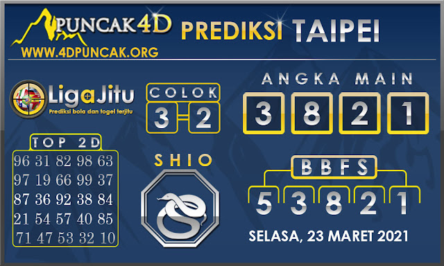 PREDIKSI TOGEL TAIPEI PUNCAK4D 23 MARET 2021