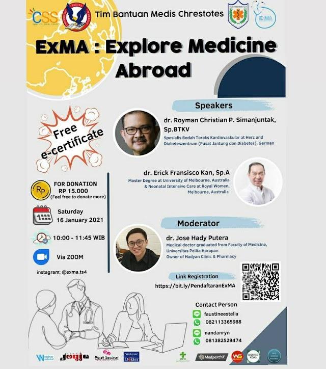 WEBINAR  ExMA: Explore Medicine Abroad