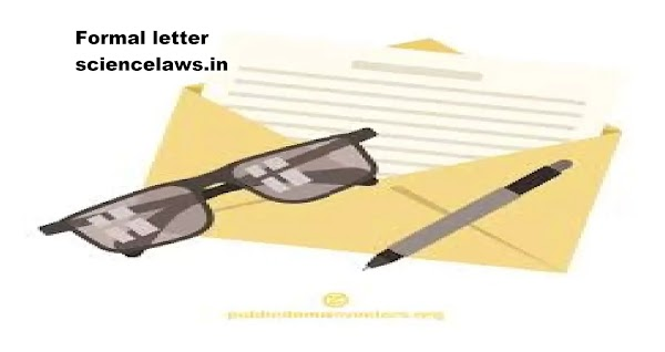 format on how to write a formal letter