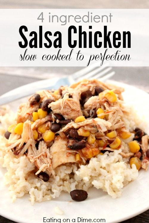 CROCKPOT SALSA CHICKEN RECIPE #recipes #dinnerrecipes #dinnerideas #easydinnerideas #easydinnerideasfor4 #food #foodporn #healthy #yummy #instafood #foodie #delicious #dinner #breakfast #dessert #yum #lunch #vegan #cake #eatclean #homemade #diet #healthyfood #cleaneating #foodstagram