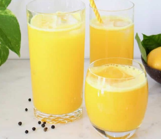 Ginger Turmeric Lemonade #healthydrink #freshdrink