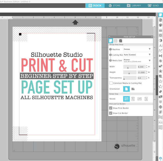 silhouette 101, silhouette america blog, cameo 4, print and cut, silhouette print and cut
