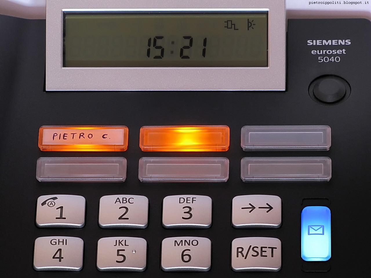 Gigaset Euroset 5040, chiamate perse