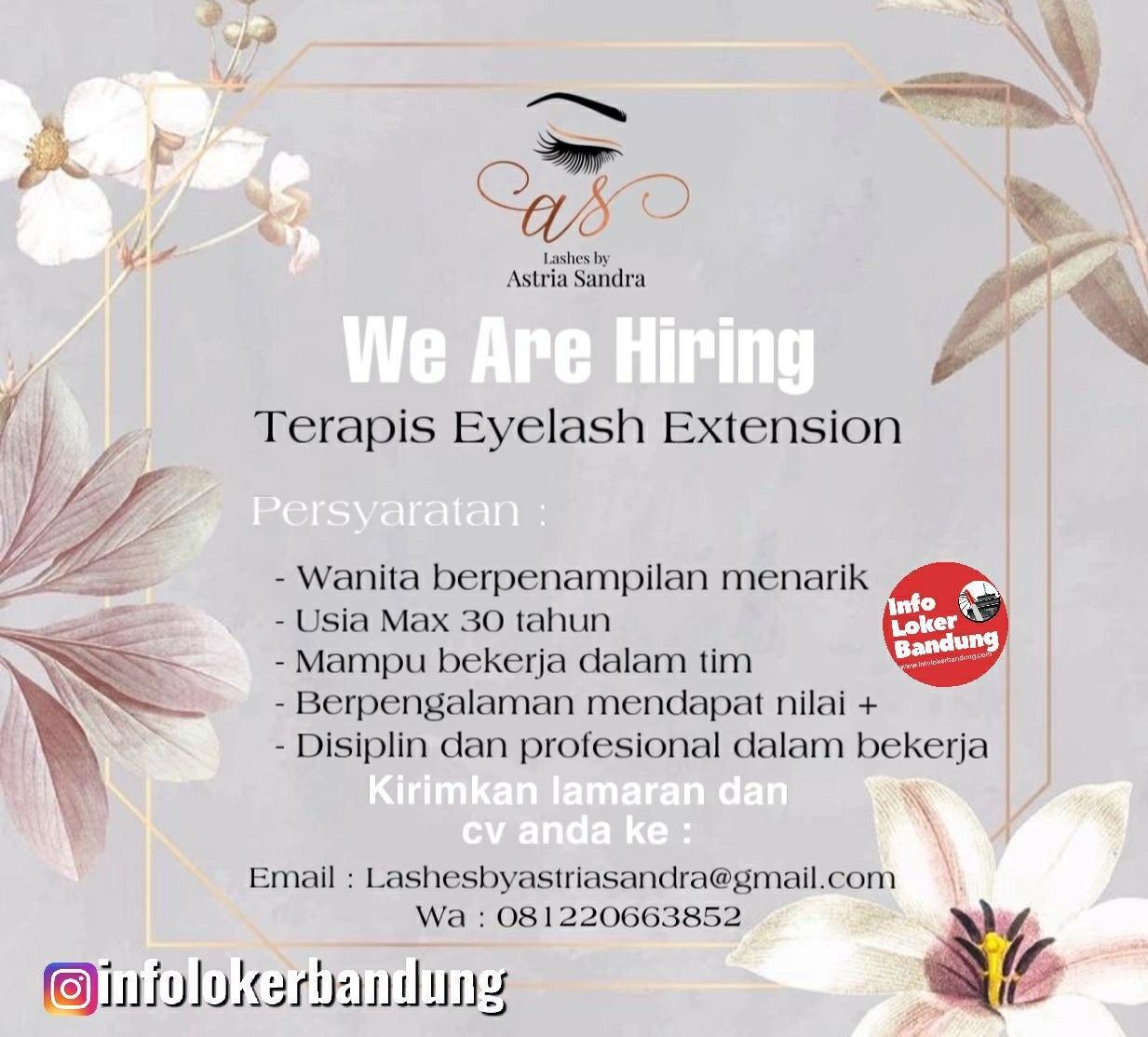 Dibutuhkan Cepat Terapis Eylash Extension Lashes by Astria Sandra Bandung Januari 2020