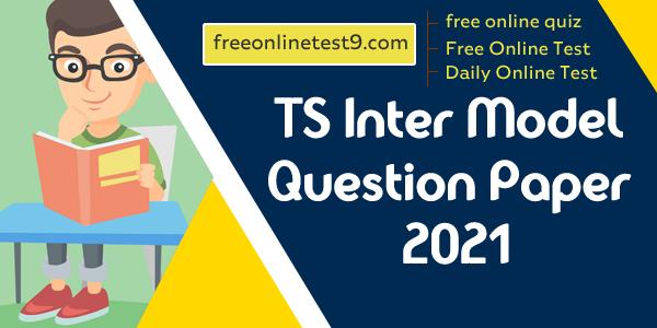 TS Inter Model Question Paper 2021