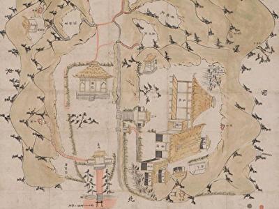 報国寺境内絵図