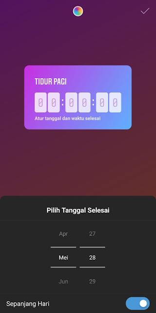 Cara Membuat Countdown Instagram 4
