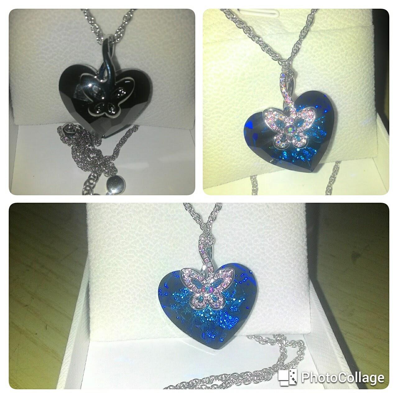Collana con cuore e farfalla pulsante JNina 2 bigiotteria