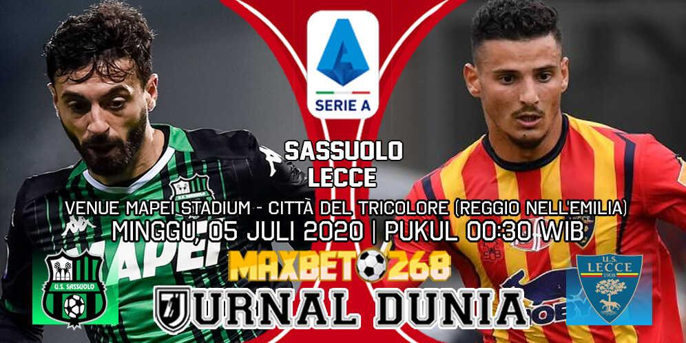 Prediksi Sassuolo Vs Lecce 05 Juli 2020 Pukul 00.30 WIB