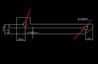Tambahkan Additional-Features yaitu 2 buah lubang dengan diameter 7mm