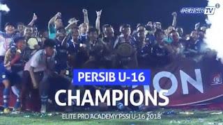 Bobotoh Gelar Konvoi Persib U-16 Juara Liga 1 U-16 2018
