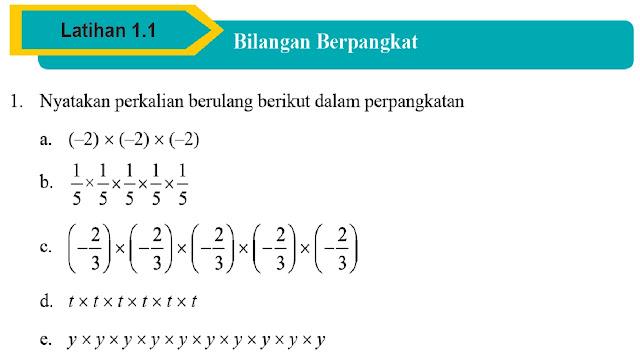 Mengenal Bilangan Berpangkat Dilengkapi Soal Latihan dan Pembahasan dari Buku Matematika SMP Kelas IX Kurikulum 2013