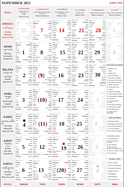 Kalender Bali November 2021 Lengkap PDF dan JPG