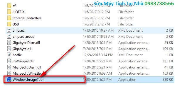 Bấm đúp chuột vào file chạy để tạo USB cài đặt Win 7