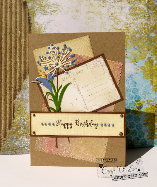 Card with Stamps and die-cuts