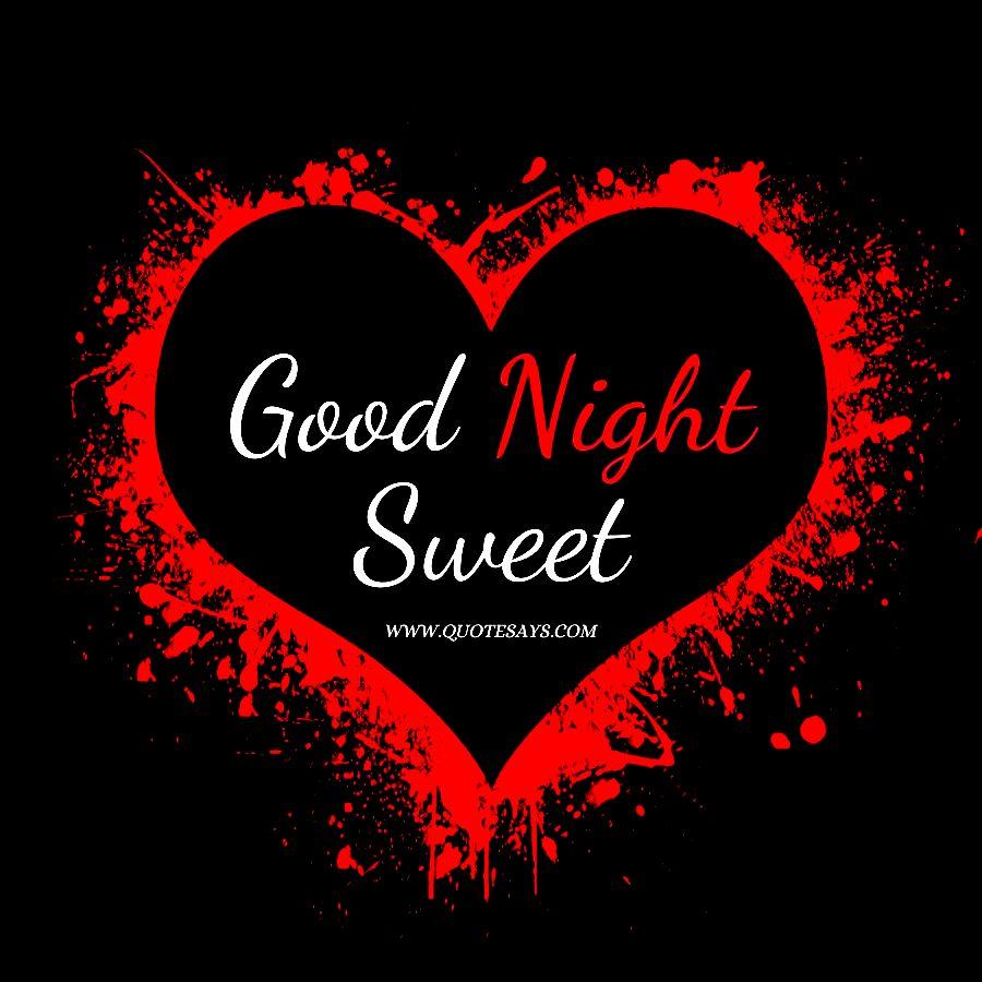 Good Night Red Heart Vector