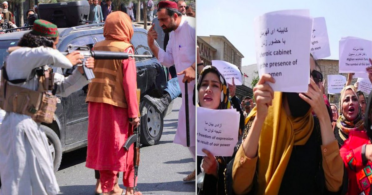 Women Protestors In Afghanistan Are Beaten And Whipped By Taliban Enforcers After Demanding Equal Rights
