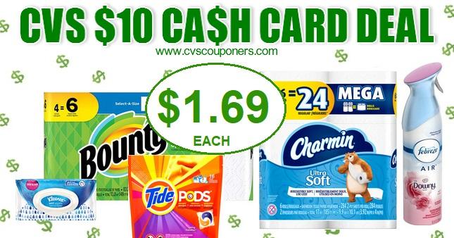 CVS Cash Card Charmin or Bounty Deal 113-119