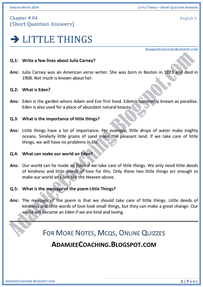 little-things-question-answers-english-x
