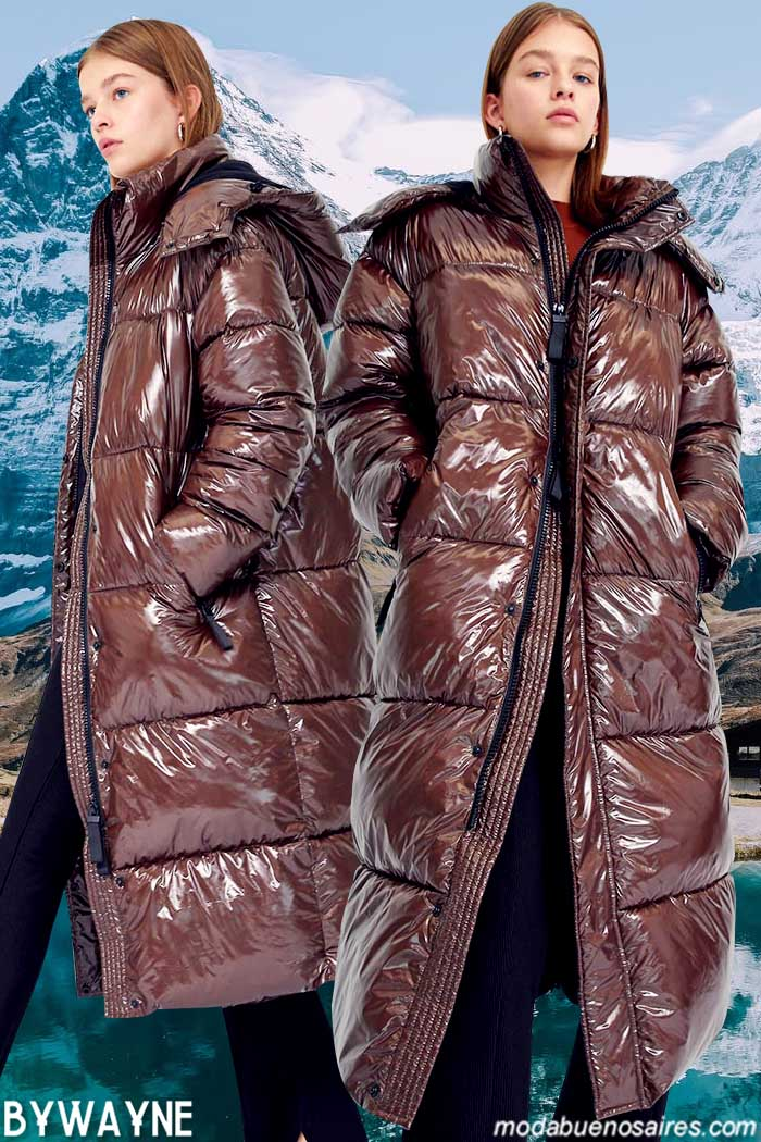 Campera inflable larga invierno 2021 ultima moda invierno 2021