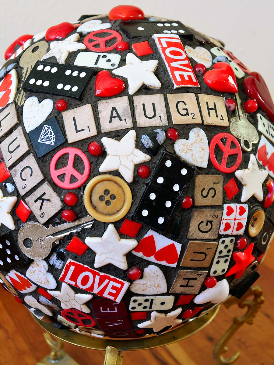 Found Object Mosaic Ball