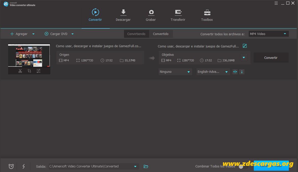 Aimersoft Video Converter Full Español