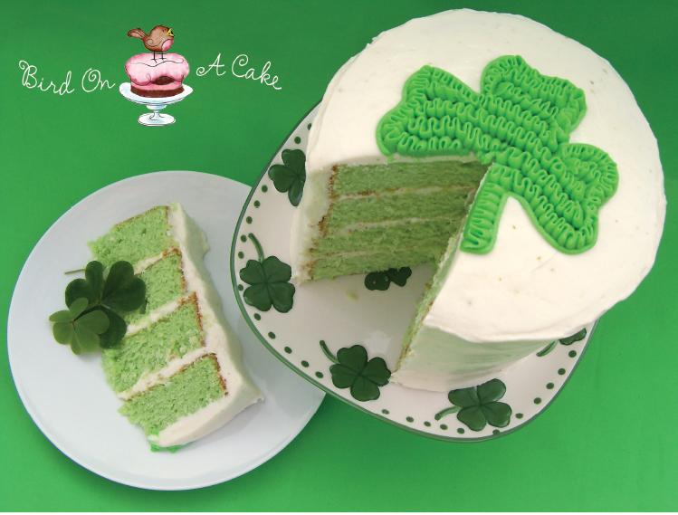 Key Lime Shamrock Cake @ Bird on a Cake