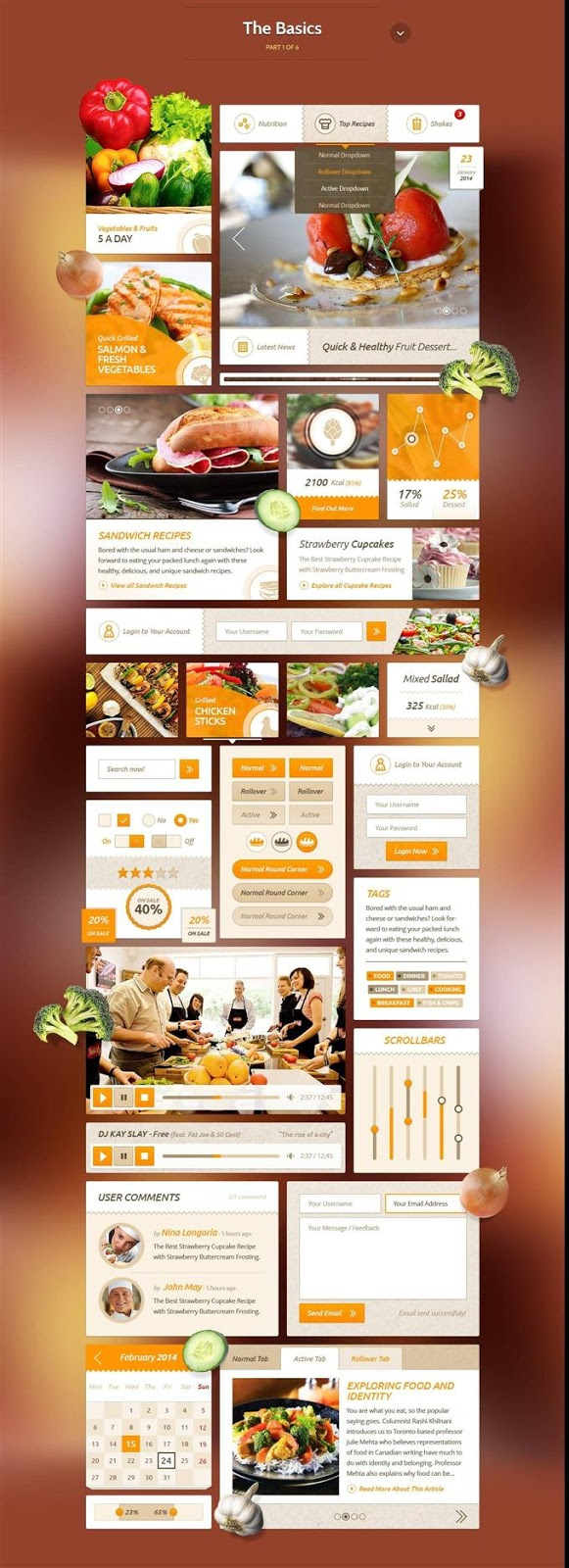 Recipes Food UI Kit PSD