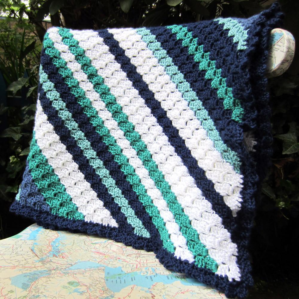 Crochet Pattern For Edging On Afghan : peaceofpi studio: Corner to Corner Crochet Afghan C2C