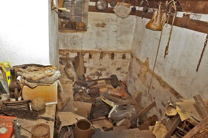 Utility room, massive renovation, replace floor joists,