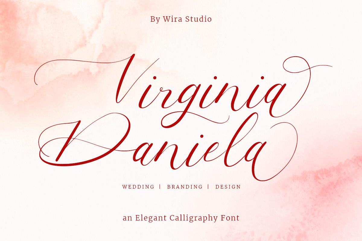 Virginia Daniela Font - Free Calligraphy Script Typeface