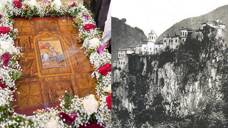Η ιστορική εικόνα του Αγίου Γεωργίου Περιστερεώτα στη Νέα Χηλή