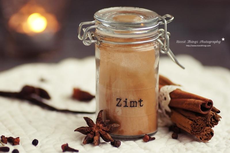 Zimt Pulver im Bügelglas für Chai Sirup
