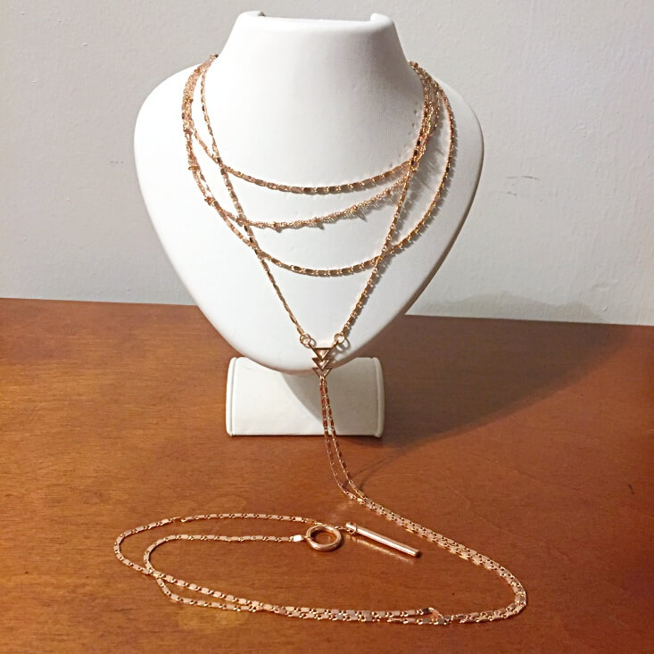 long layered rose gold necklace