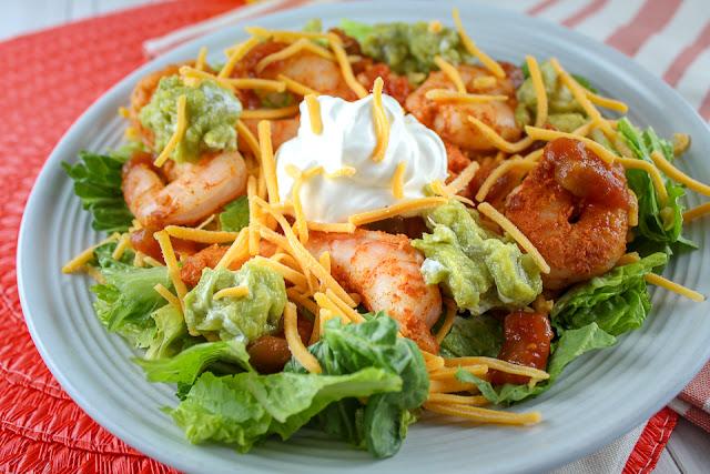 Air Fryer Shrimp Taco Salad